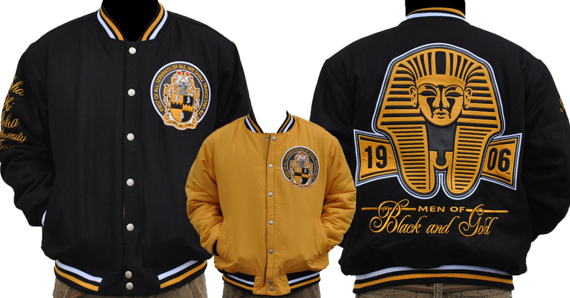 Alpha Phi Alpha apparel-Reversible Wool Jacket
