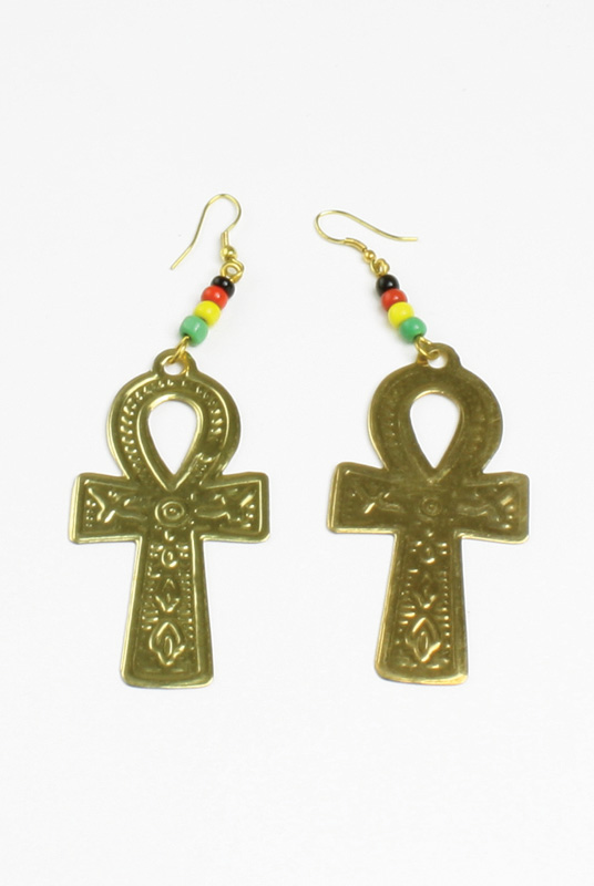 Ankh Earrings: Gold