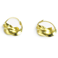 Small Fula Gold Twist Earrings