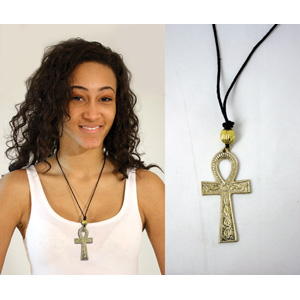 "Brass Ankh Necklace : Large (3"")"