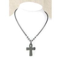 Hematite Ankh Necklace