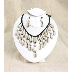 Cowrie Shell Jewelry Set-White
