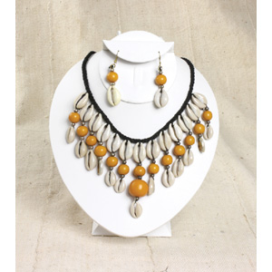 Cowrie Shell Jewelry Set-Yellow