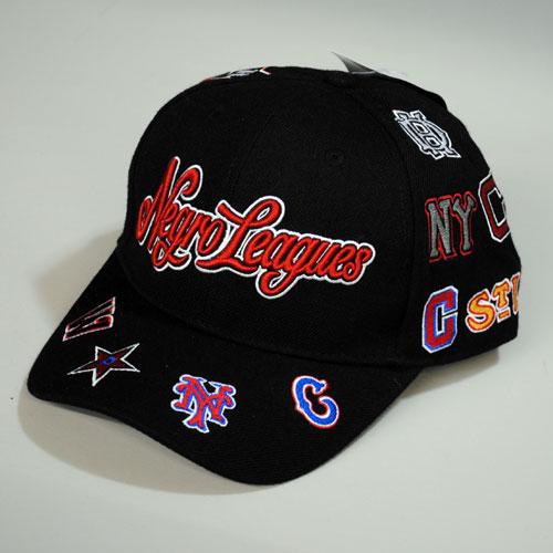 Negro League Baseball Cap (ADJ)- black