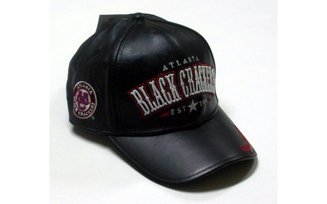Black Crackers Legends Leather Cap