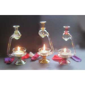 Egyptian Glass Oil Burner - Assorted