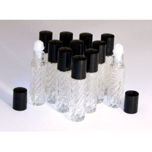 1/3oz.Textured Roll-On Bottles - Set 12
