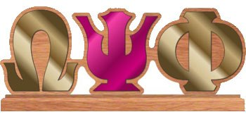 Omega Psi Phi Gifts-Collectibles-Omega Psi Phi Desktop Letters