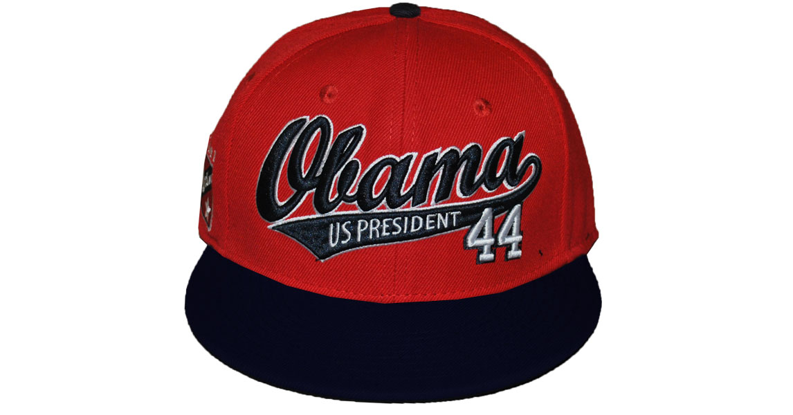 Obama Cap-Flat visor, snap back cap