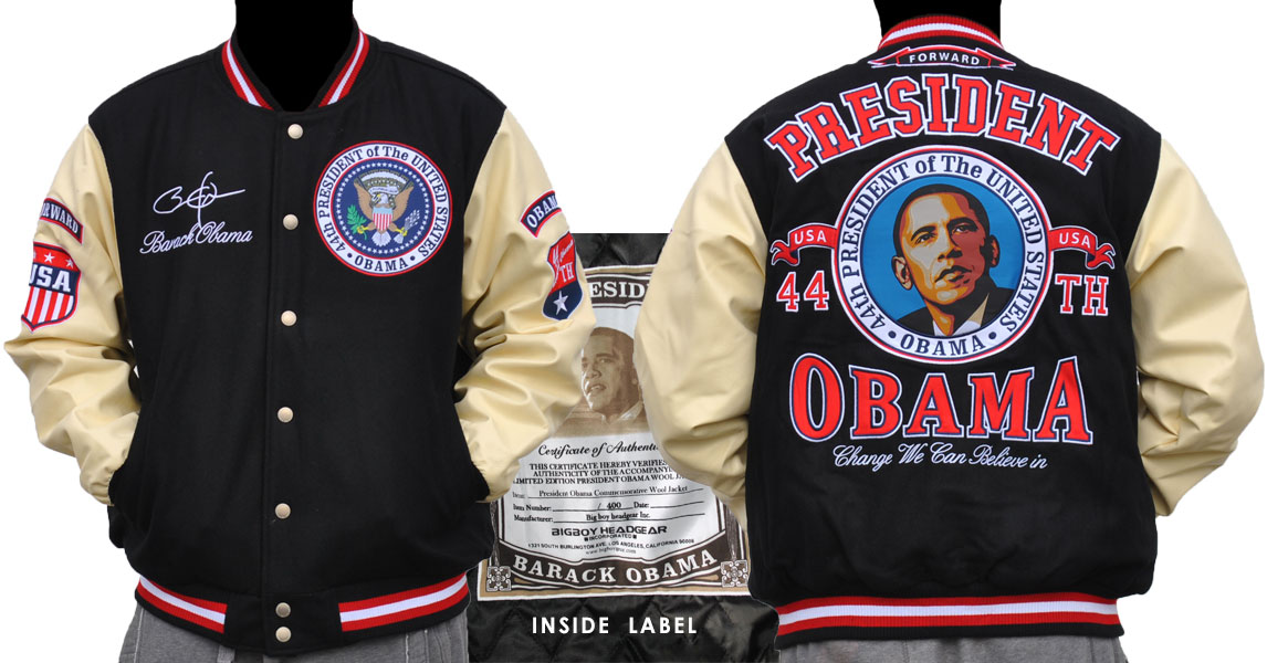 """President Barack Obama-Apparel-Varsity Jacket"""