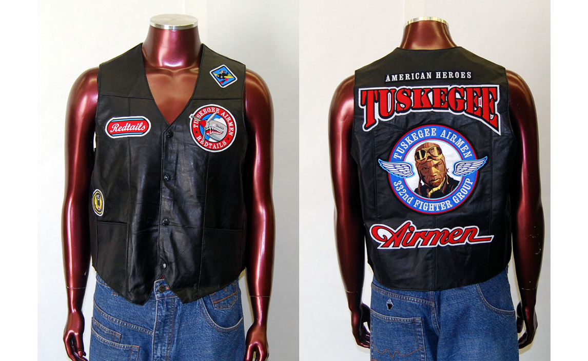 """Tuskegee Airmen Leather Vest"""