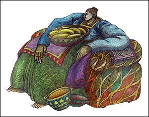 Charles Bibbs Giclee-Big Mamas Chair-RETIRED