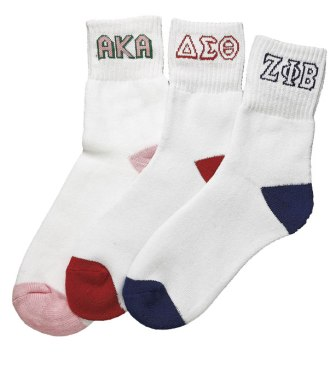 Delta Sigma Theta Sorority Sock(ankle)