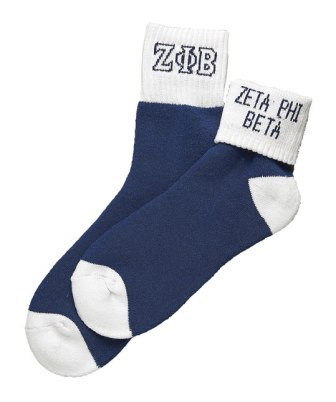 Zeta Phi Beta Apparel socks color ankle