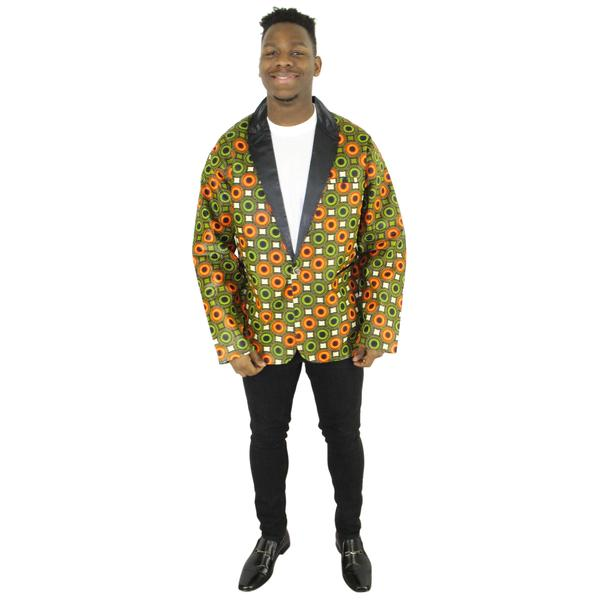 African Print Blazer Jacket for Men