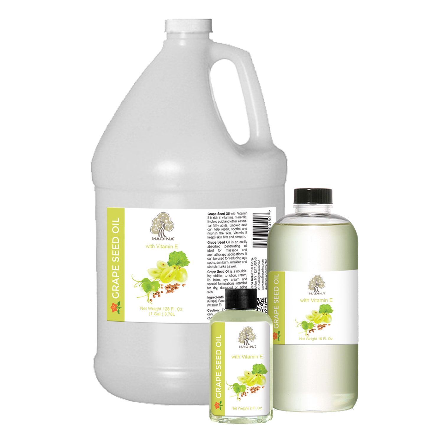 GRAPESEED OIL WITH VITAMIN E - 1 Gallon