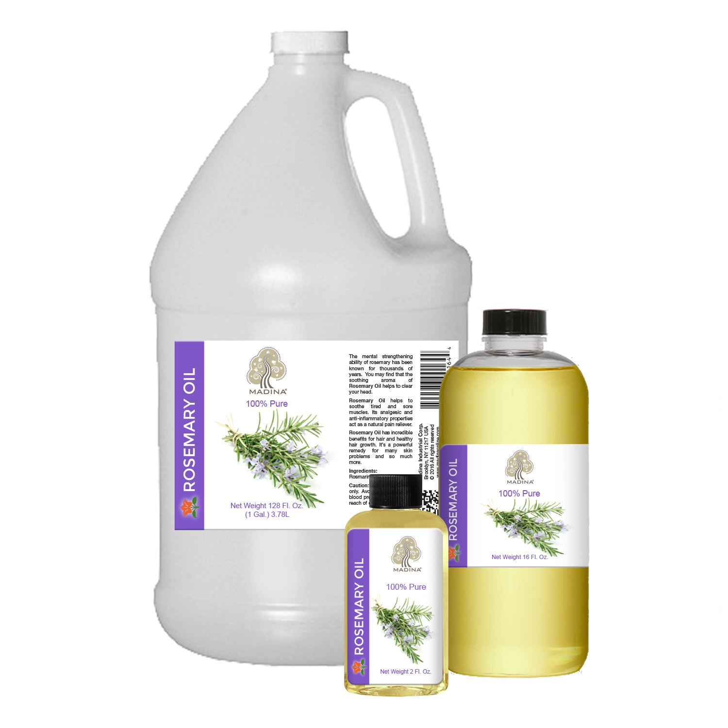 PURE ROSEMARY OIL - 2 oz