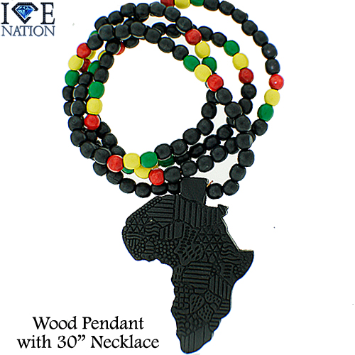 Africa Map Beaded Necklace