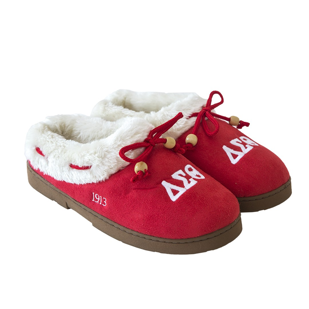 Delta Sigma Theta Cozy Slippers Large