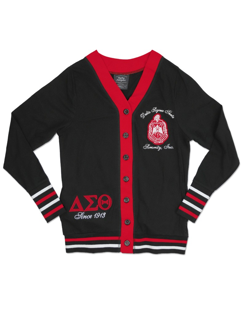 Delta Sigma Theta Apparel Cardigan Black