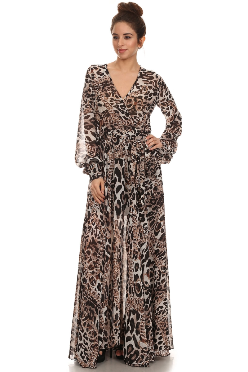 """All Eyes On Me Collection- V neck printed wrap dress"""