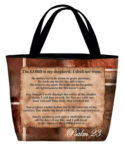 Tote bag: Psalm 23