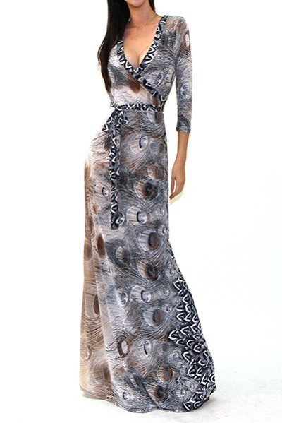 """All Eyes On Me Collection-sexy animal print Maxi Dress"""