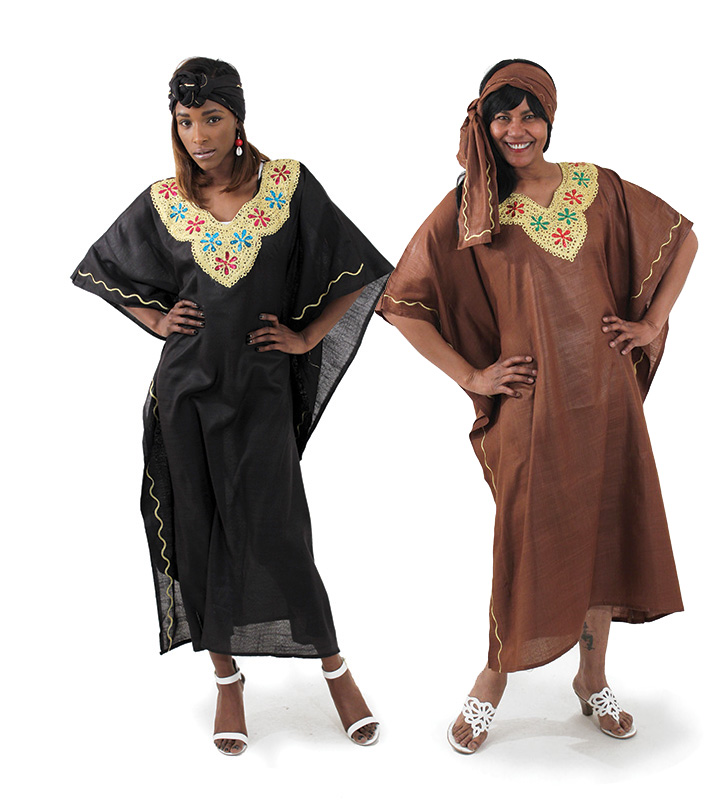 'African apparel-Dazzling Flower Embroidered Kaftan'