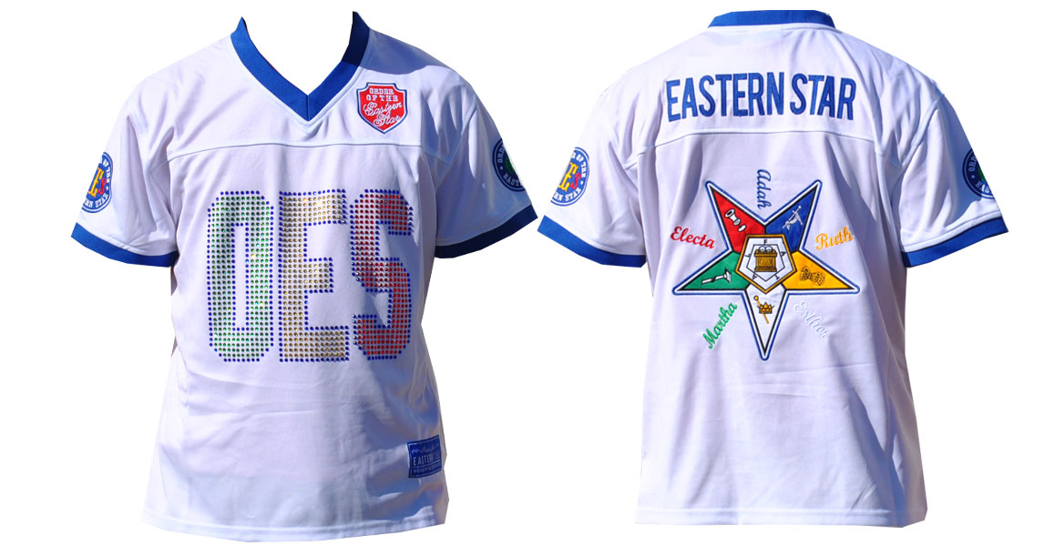 Order of the Eastern Star apparel Football Jersey
