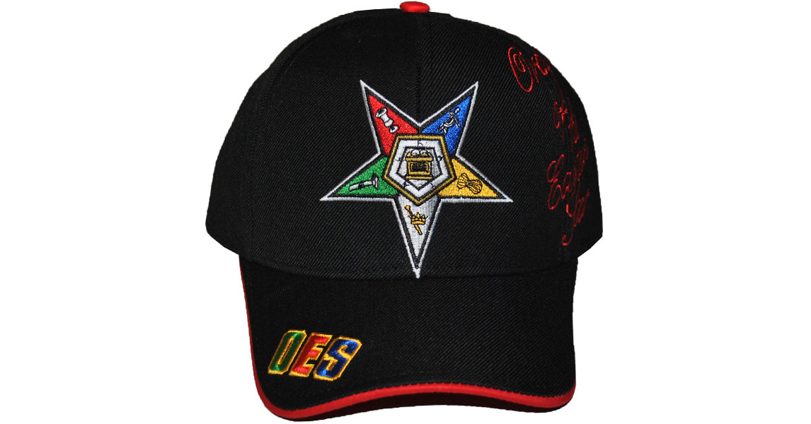 Order Of The Eastern Star Cap BLK