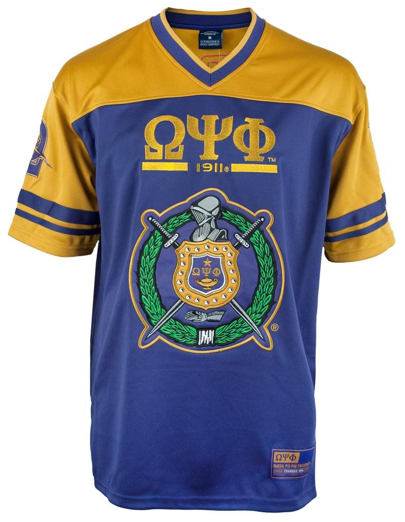 Omega Psi Phi apparel-Football Jersey