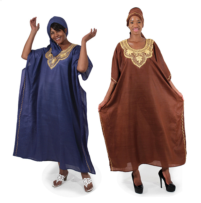 African Embroidered Kaftan Assorted Colors