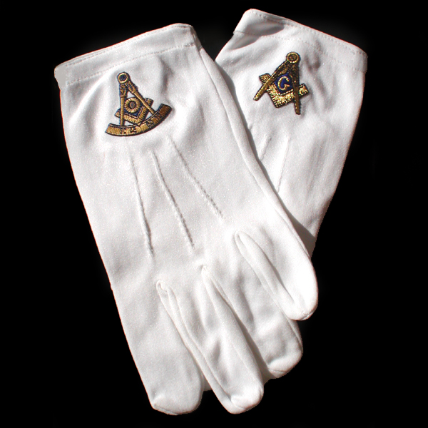 Freemason White Gloves