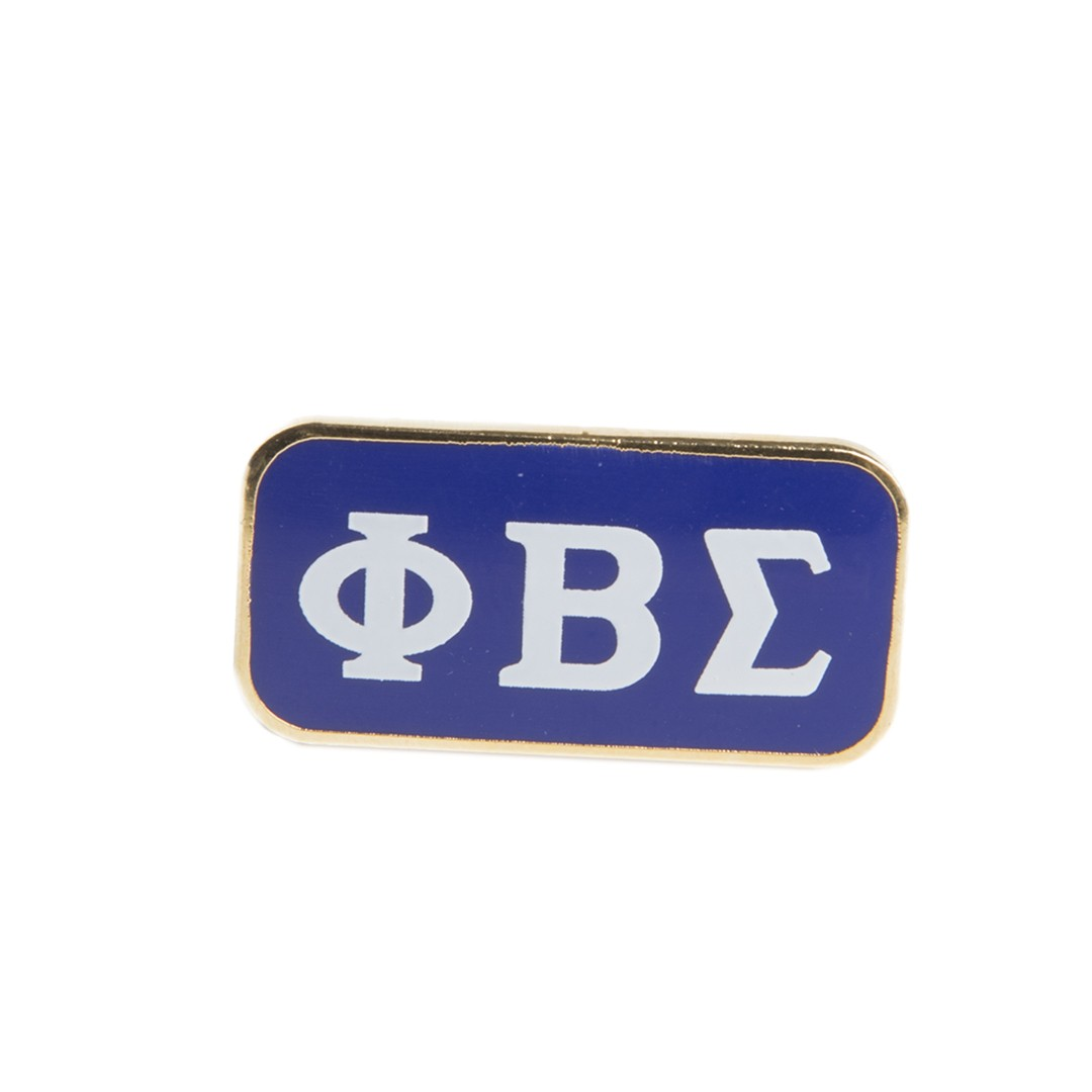Colored 3 letter lapel pin - Phi Beta Sigma