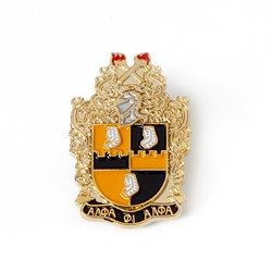 Alpha Phi Alpha Jewelry 3 D  Color Shield Pin