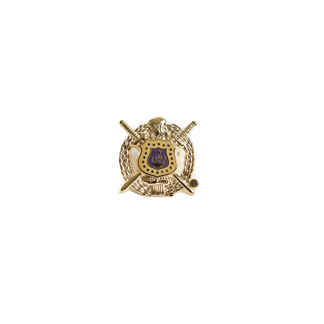 Omega Psi Phi Jewelry 3 D Color Shield Pin