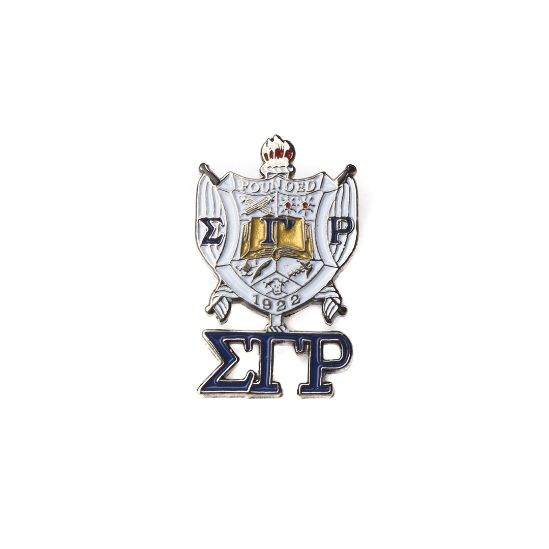 Shield Pin with drop letter - Sigma Gamma Rho