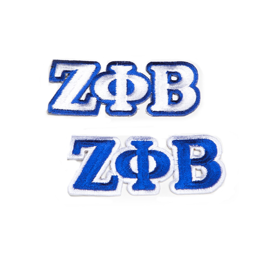 Zeta Phi Beta Patches connected 3 letters  - Royal