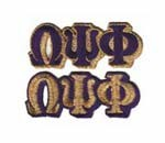 Omega Psi Phi Patches connected 3 letters - Purple