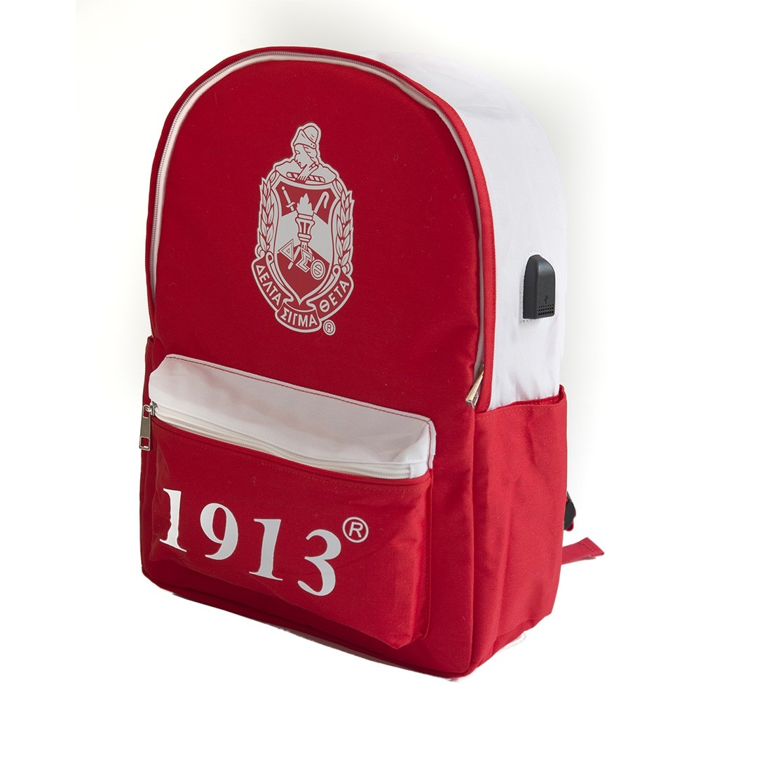 Delta Sigma Theta Bag USB Port Backpack