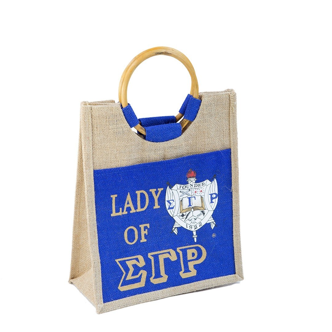 Mini Pocket Jute bag - Sigma Gamma Rho