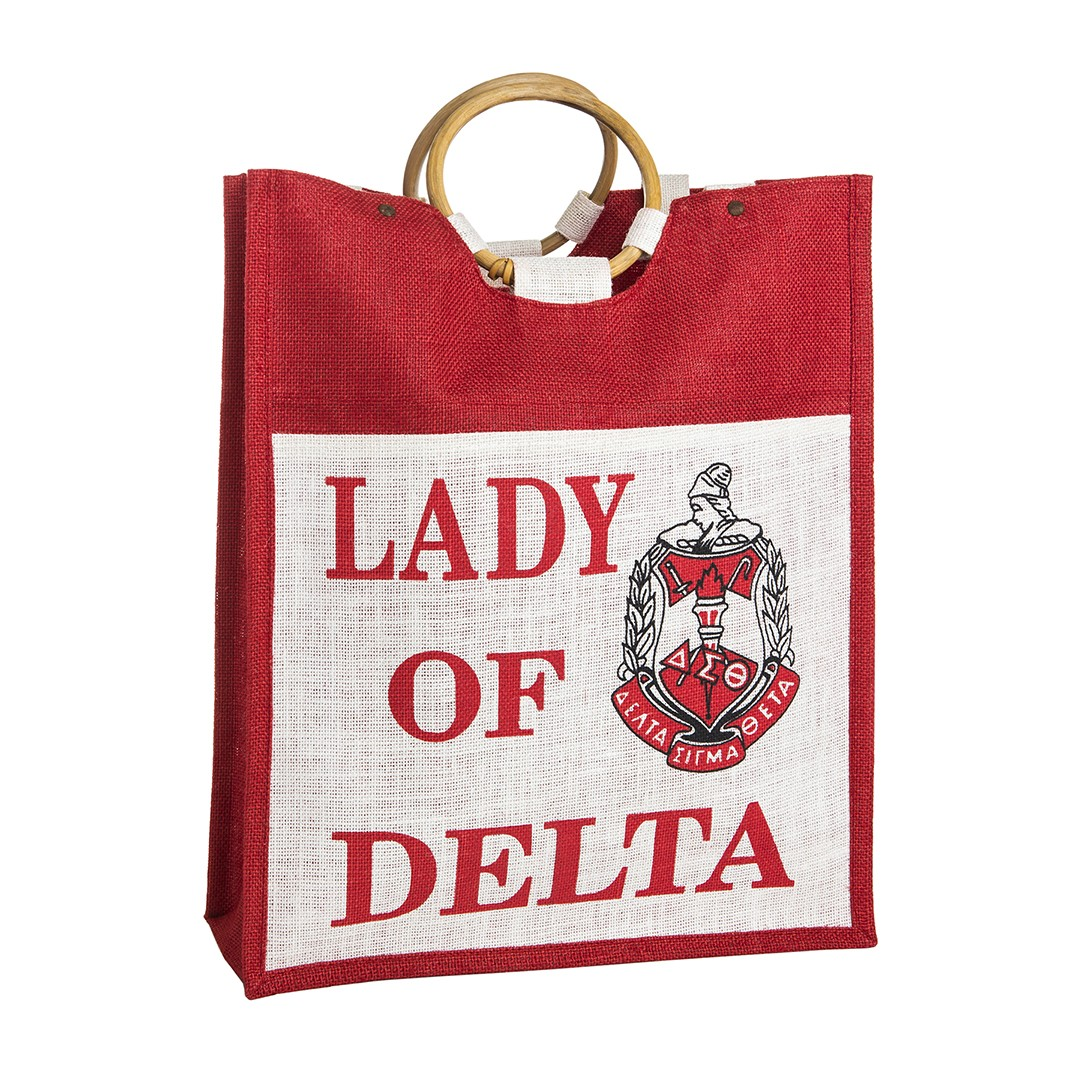 Delta Sigma Theta Bag Pocket Jute