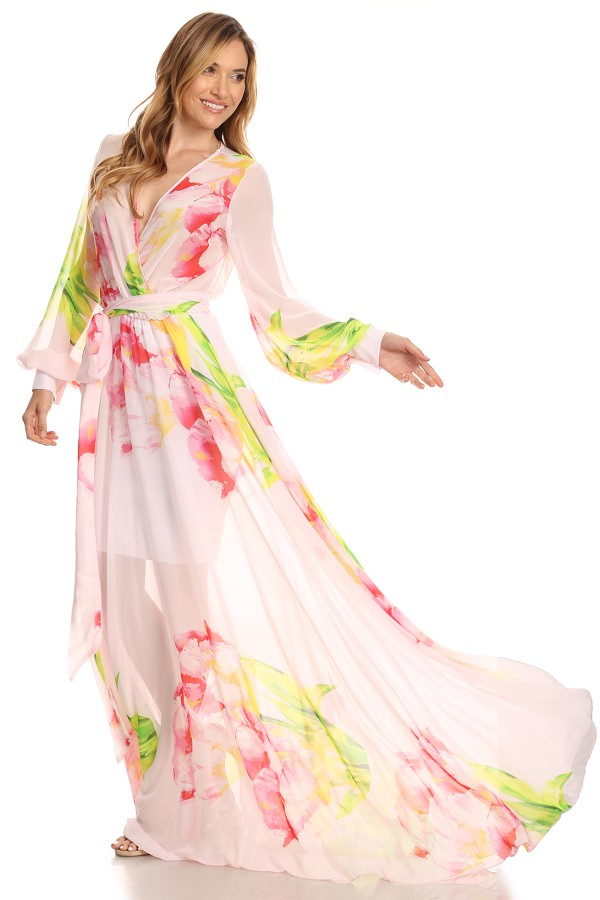 """All Eyes On Me Collection -Floral print maxi dress"""