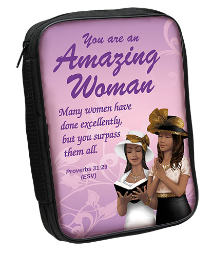 Bible Cover: Amazing Woman AA
