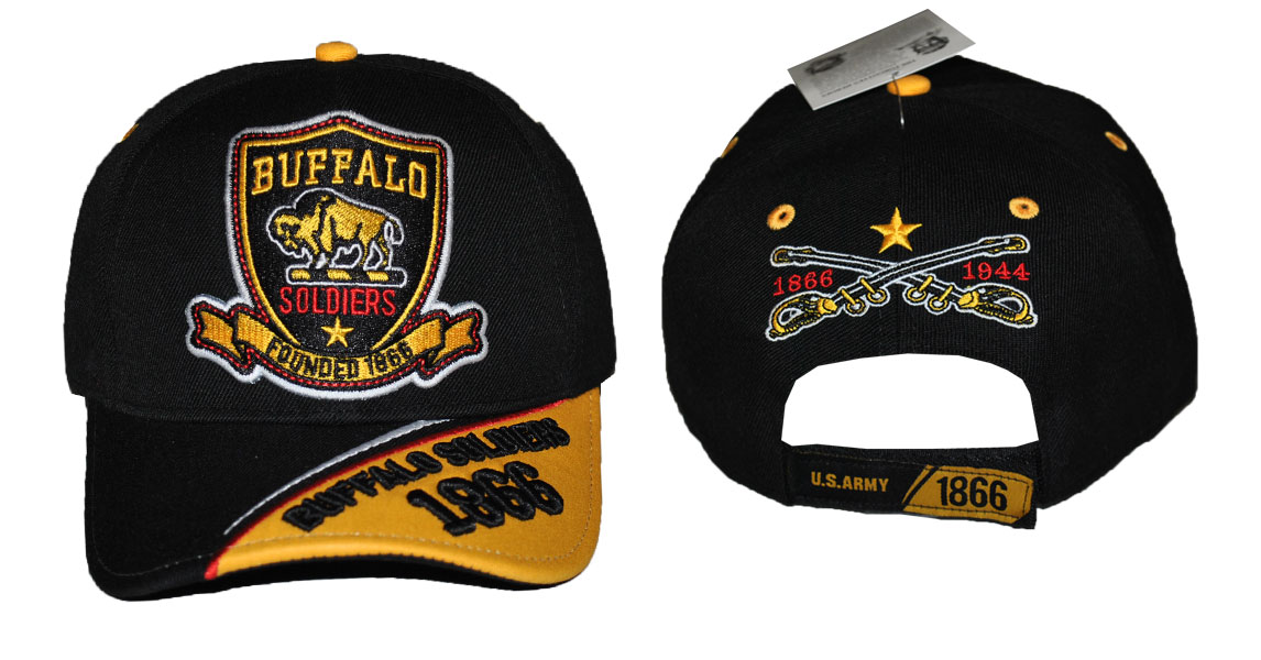 Buffalo Soldiers Cap - Blk