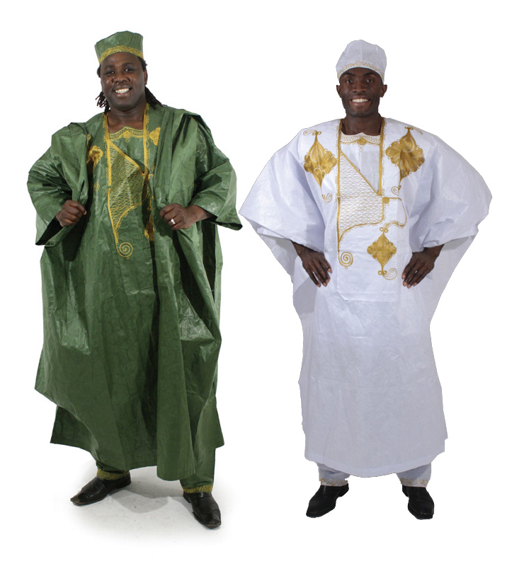 African Men's Attire 4 piece Grand Boubou