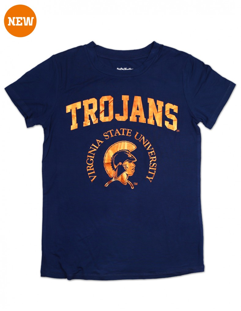 Virginia State University Foil T Shirt Wear