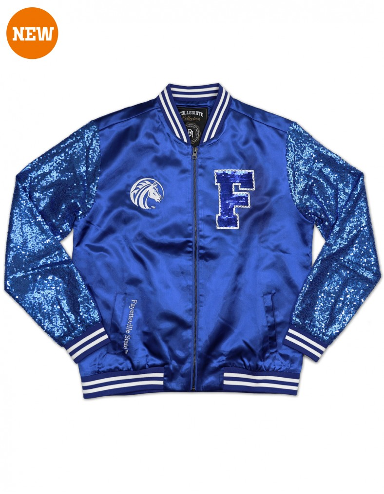 Fayetteville State University Apparel Sequins Satin Jacket