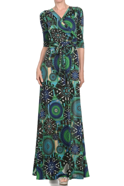 """All Eyes On Me Collection- V neck, flared, wrap dress"""