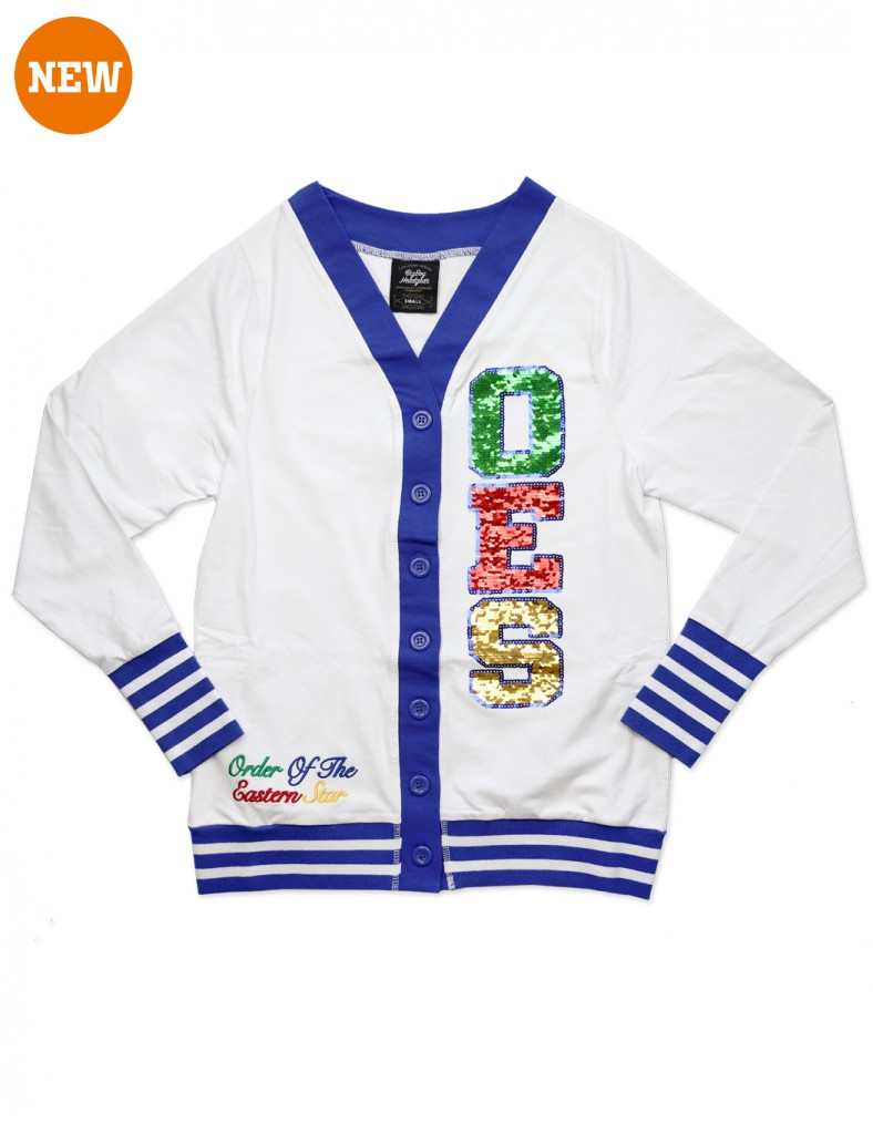 Order of the Eastern Star apparel Patch Cardigan